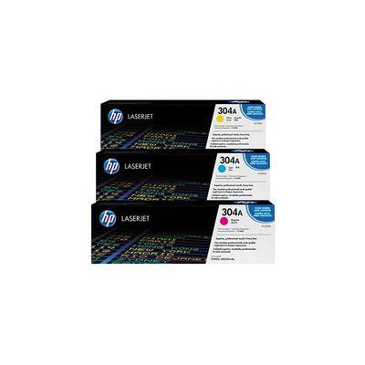 Original 3  Tonerpatronen CMY (Rainbow-Kit) HP Color LaserJet CP 2027