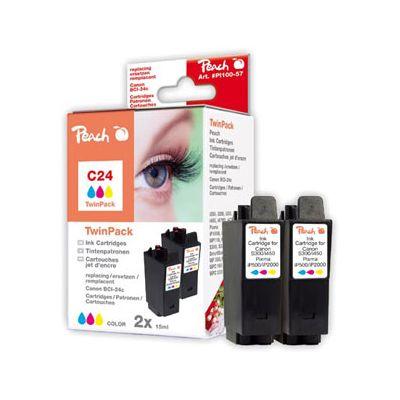 Peach  Doppelpack Tintenpatronen color kompatibel zu Canon Smartbase MPC 190