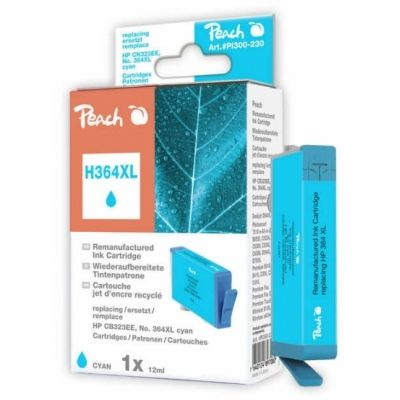 Peach  Tintenpatrone cyan kompatibel zu HP PhotoSmart Premium Touchsmart Web
