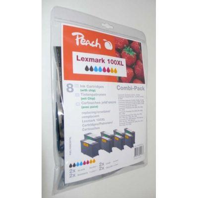 Peach  Spar Pack Tintenpatronen kompatibel zu Lexmark Genesis S 815