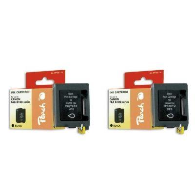 Peach  Doppelpack Druckköpfe schwarz kompatibel zu Canon Faxphone B 70