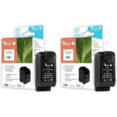 Peach  Doppelpack Druckköpfe color kompatibel zu HP OfficeJet G 85 XI