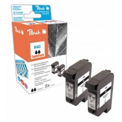 Peach  Doppelpack Druckköpfe schwarz kompatibel zu HP Copyjet M